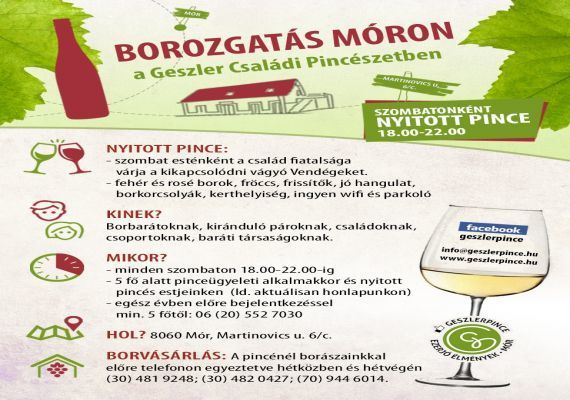 Geszler Családi Pincészet - Modern látványborászat, Mór